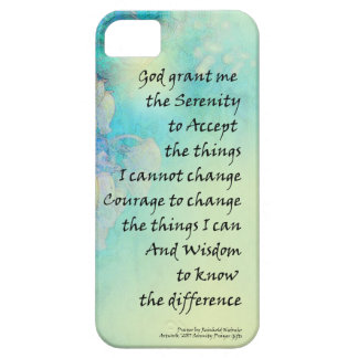 Serenity Prayer Manzanita iPhone 5 Case
