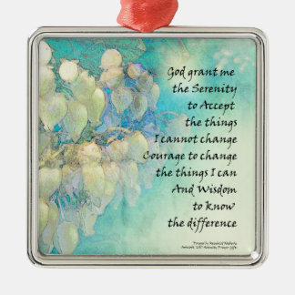 Serenity Prayer Manzanita Metal Ornament