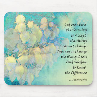 Serenity Prayer Manzanita Mouse Pad