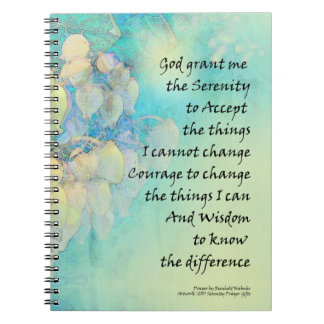 Serenity Prayer Manzanita Spiral Notebook
