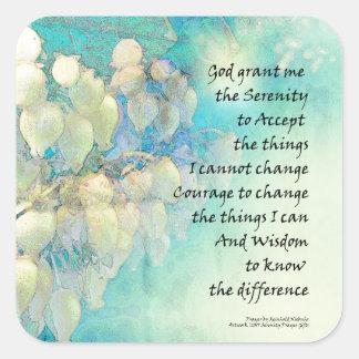 Serenity Prayer Manzanita Square Sticker