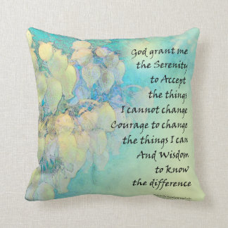 Serenity Prayer Manzanita Throw Pillow