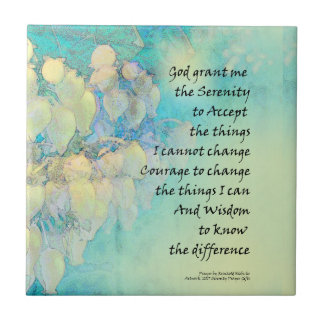 Serenity Prayer Manzanita Tile