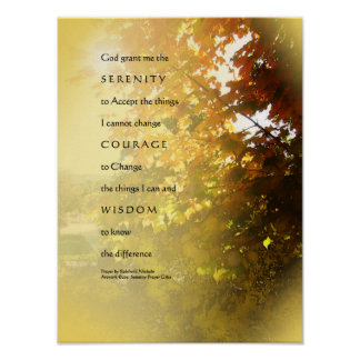 Serenity Prayer Maples Light Poster