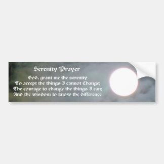 Serenity Prayer Moon Inspirational Bumper Sticker