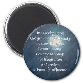 Serenity Prayer Moon Magnet