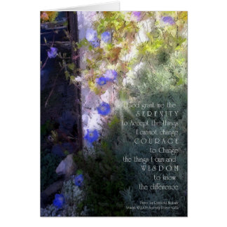 Serenity Prayer Morning Glories Card