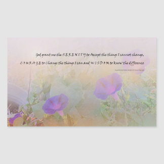 Serenity Prayer Morning Glories Sticker