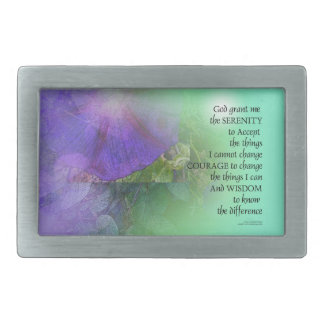 Serenity Prayer Morning Glory  Collage Belt Buckles
