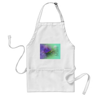 Serenity Prayer Morning Glory  Collage Standard Apron