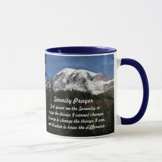 Serenity Prayer Mount Rainier Photo Coffee Mug