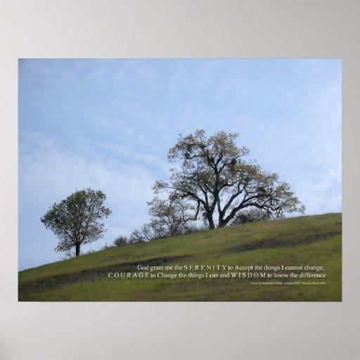 Serenity Prayer Oaks Posters