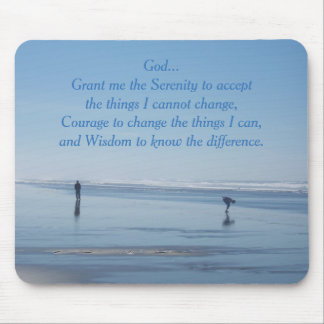 Serenity Prayer Ocean Beach Mouse Pad