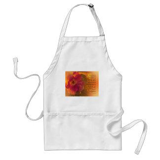 Serenity Prayer Orange Pink Rose Standard Apron