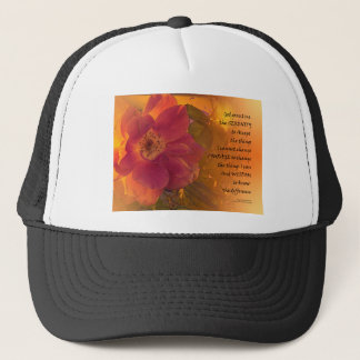 Serenity Prayer Orange Pink Rose Trucker Hat