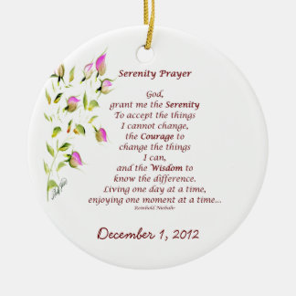 Serenity Prayer Ornament