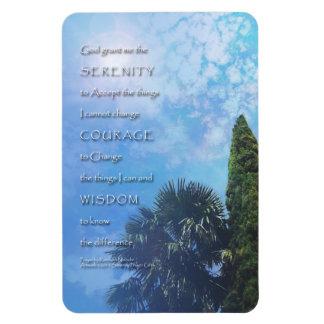 Serenity Prayer Palms and Juniper Magnet