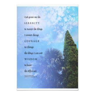 Serenity Prayer Palms & Juniper Invitation
