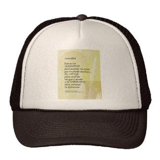 Serenity Prayer Pampas in Spanish Trucker Hat