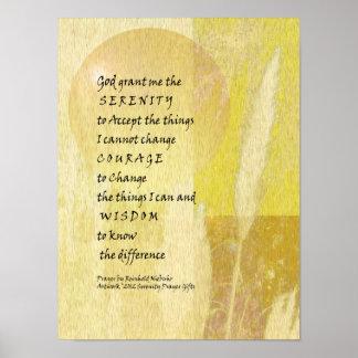 Serenity Prayer Pampas Poster