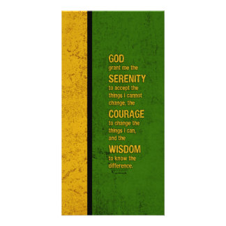 Serenity Prayer: Patriotic Jamaica, Strength/Recov Photo Cards