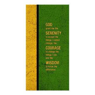 Serenity Prayer: Patriotic Jamaica, Strength/Recov Photo Cards