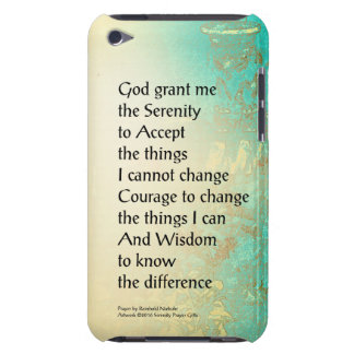 Serenity Prayer Peony Yellow Turquoise Barely There iPod Cover