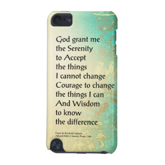 Serenity Prayer Peony Yellow Turquoise iPod Touch (5th Generation) Covers
