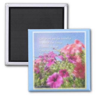 Serenity Prayer Petunias Magnet