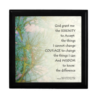 Serenity Prayer Pine Branches Gift Box