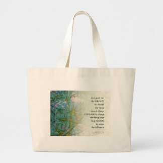 Serenity Prayer Pine Branches Large Tote Bag