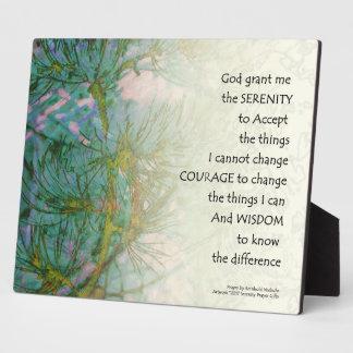 Serenity Prayer Pine Branches Plaque
