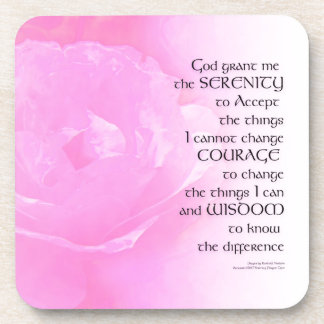 Serenity Prayer Pink Rose Blend Coaster