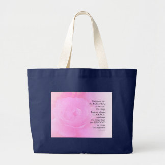 Serenity Prayer Pink Rose Blend Large Tote Bag