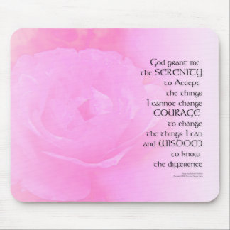 Serenity Prayer Pink Rose Blend Mouse Pad