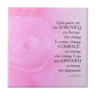 Serenity Prayer Pink Rose Blend Tile