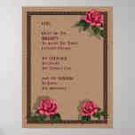 Serenity Prayer: Pink Roses: Original Art Posters