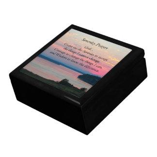 Serenity Prayer Pink Seascape Photo Gift Box