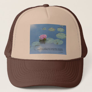 Serenity Prayer Pink Water Lily Trucker Hat