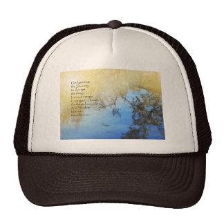 Serenity Prayer Pond Reflections Trucker Hat