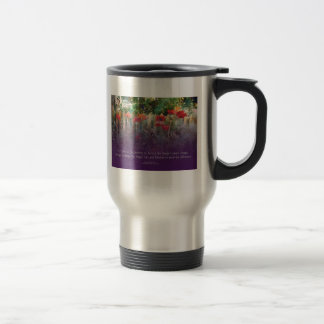 Serenity Prayer Poppies & Fence Mug