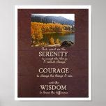 Serenity Prayer Portrait Poster - Photo Template
