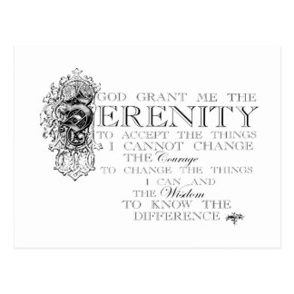 Serenity Prayer Postcard