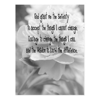 Serenity Prayer Postcard
