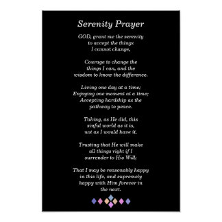 Serenity Prayer - Poster