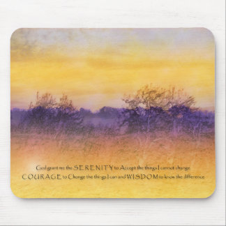 Serenity Prayer Purple Orange Field Mouse Pad