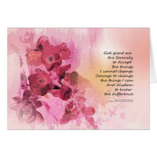 Serenity Prayer Quince Fence 3 Pink Card