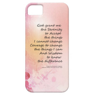 Serenity Prayer Quince Fence 3 Pink Case For The iPhone 5