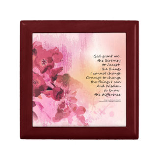 Serenity Prayer Quince Fence 3 Pink Gift Box