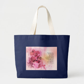 Serenity Prayer Quince Fence 3 Pink Large Tote Bag